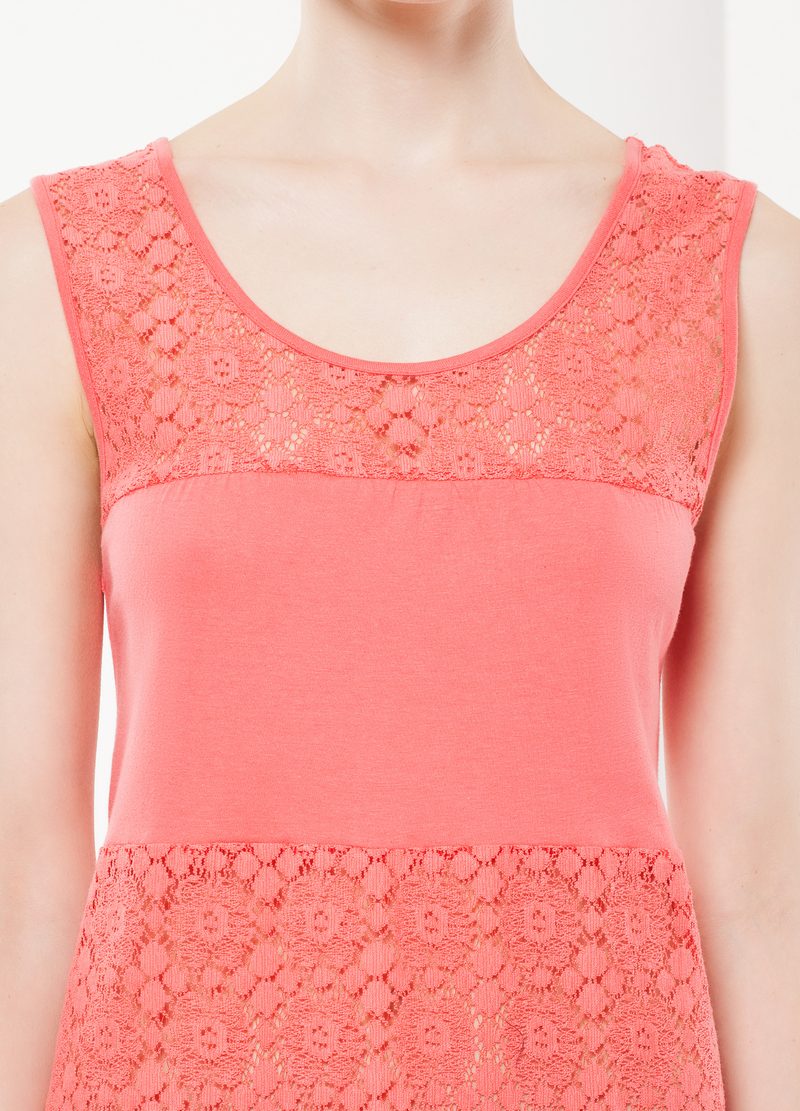 Nightdress with lace details image number null
