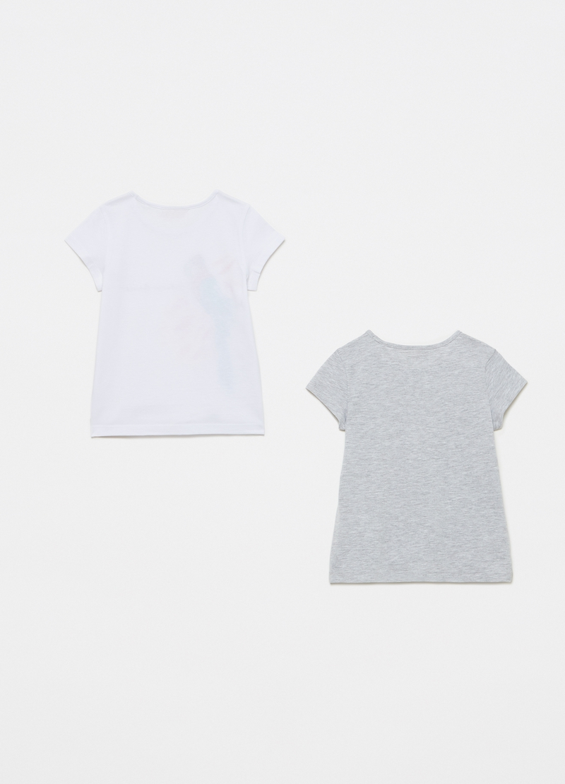 Two-pack T-shirts in cotton with print image number null