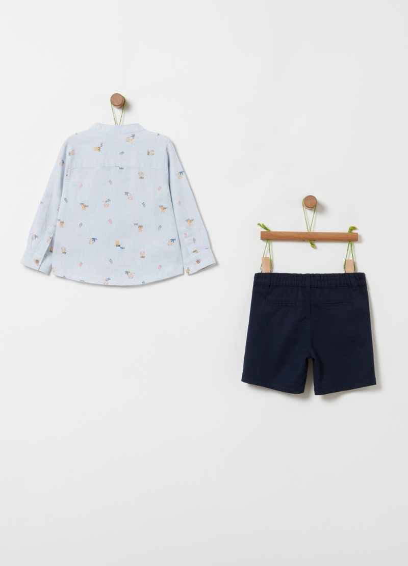 Shirt with all-over print and shorts set image number null