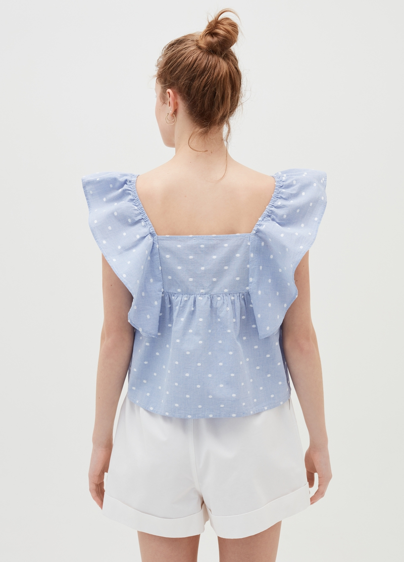 Baby Angel top with flounced sleeves image number null