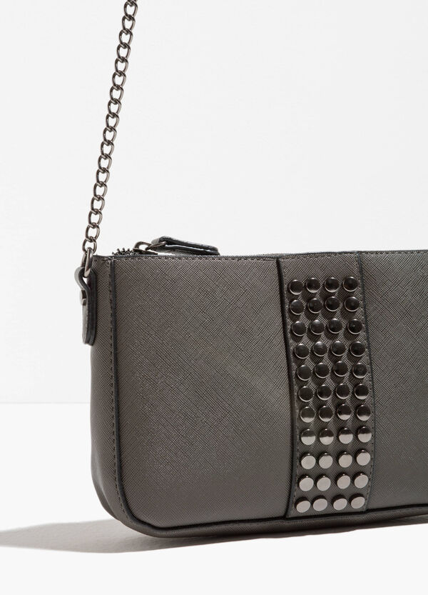 Shoulder bag with studs and chain | OVS