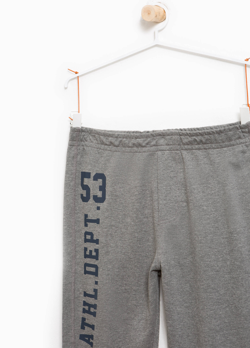 Mélange joggers with printed lettering image number null