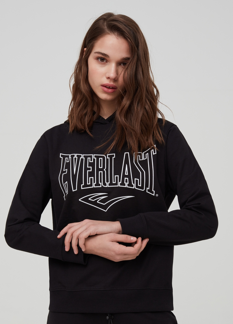 Sweatshirt with hood and Everlast print image number null