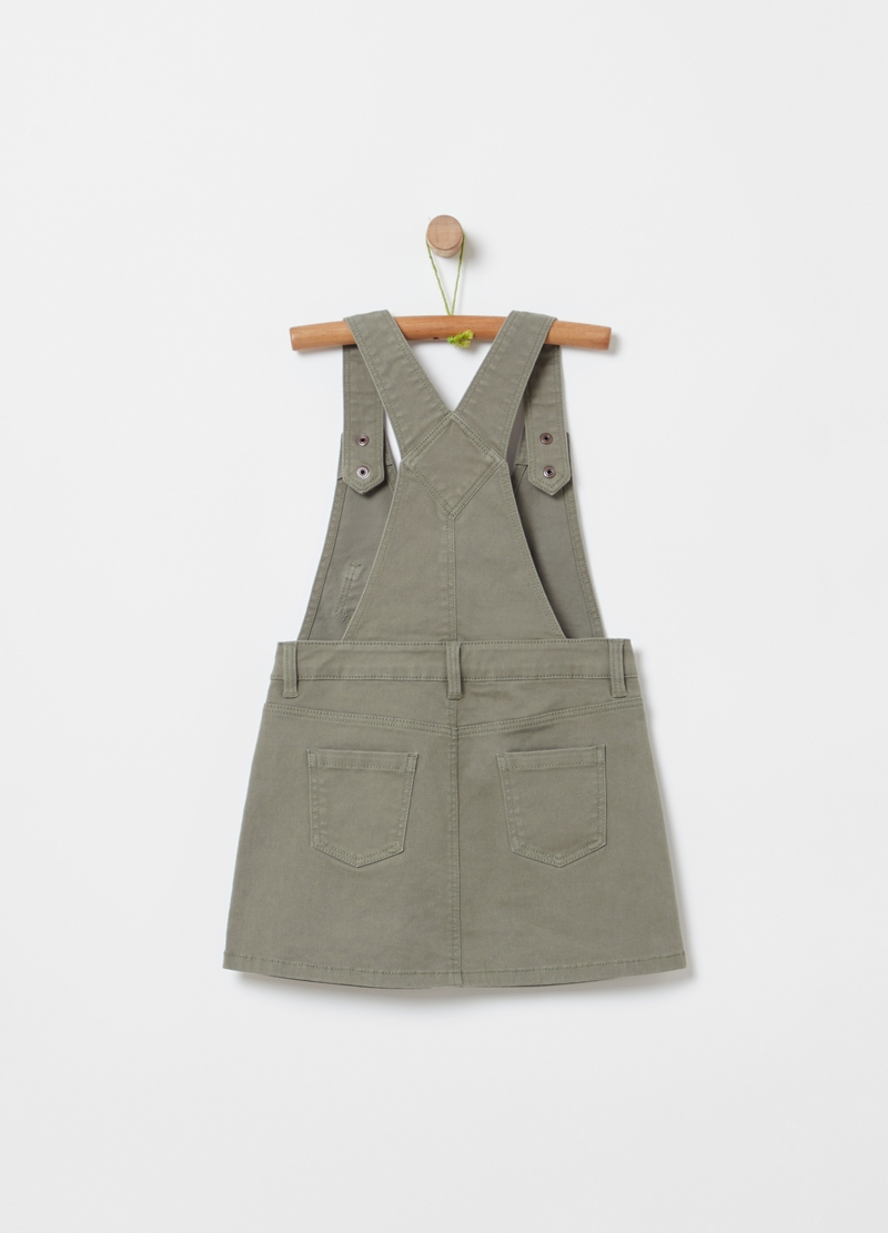 Twill dungarees with pockets image number null