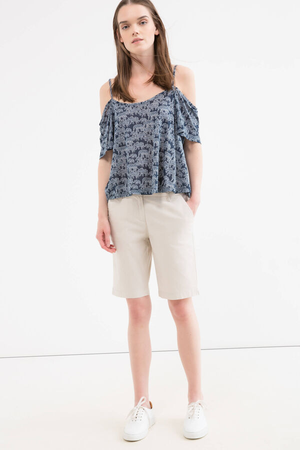 Stretch cotton bermuda with pockets | OVS