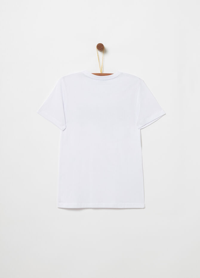 T-shirt in jersey con stampa lettering