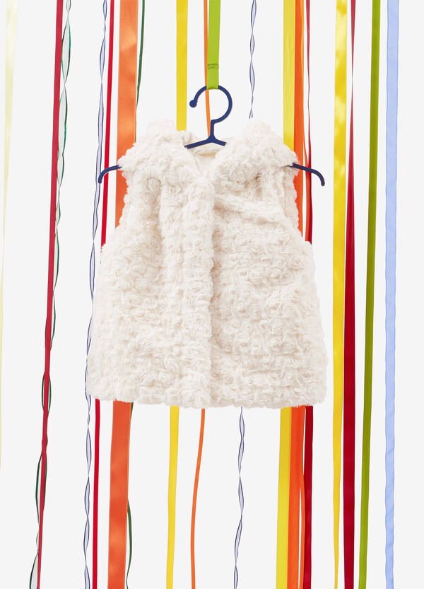 Faux fur gilet with ears
