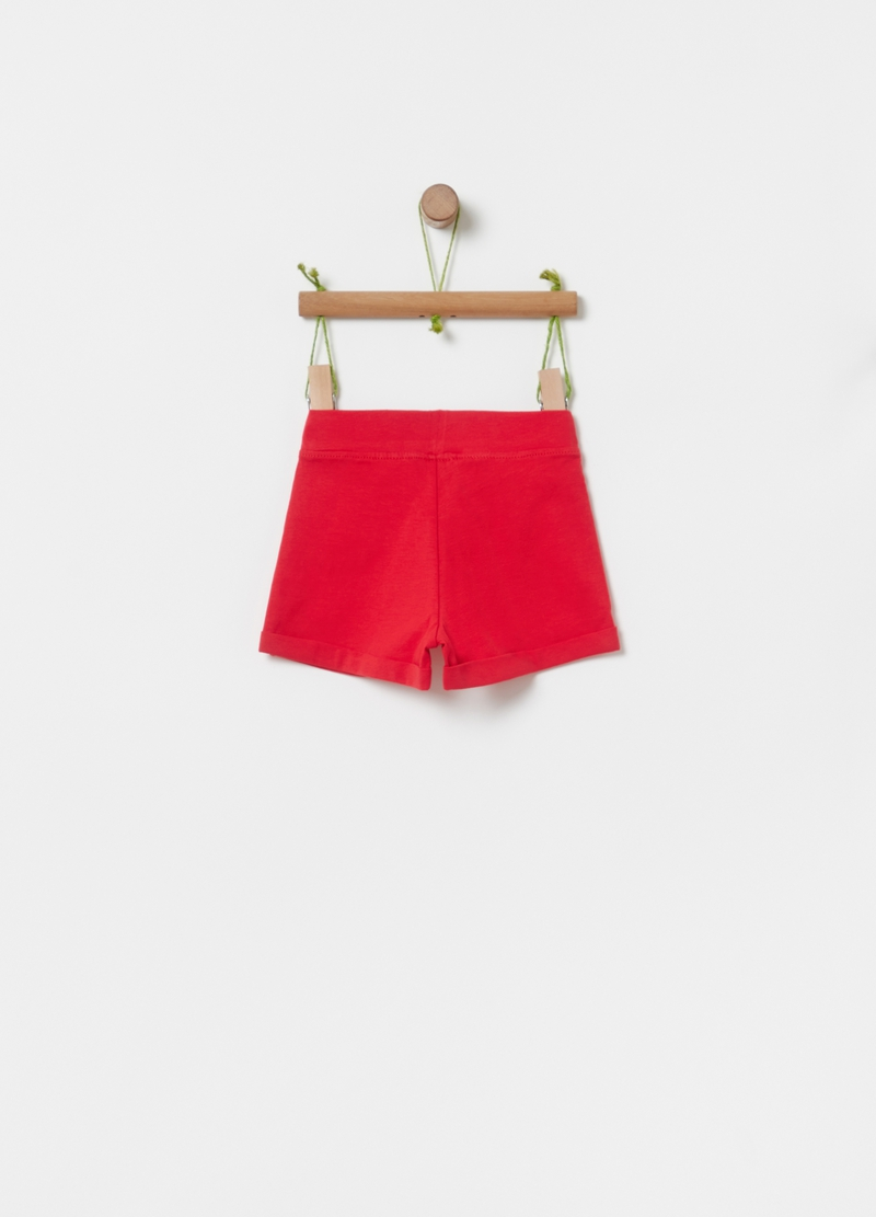 Organic cotton shorts with bow image number null