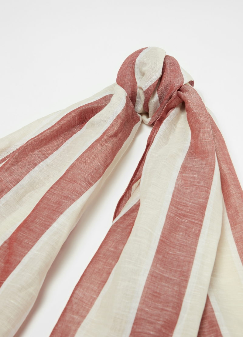 Linen and cotton scarf image number null