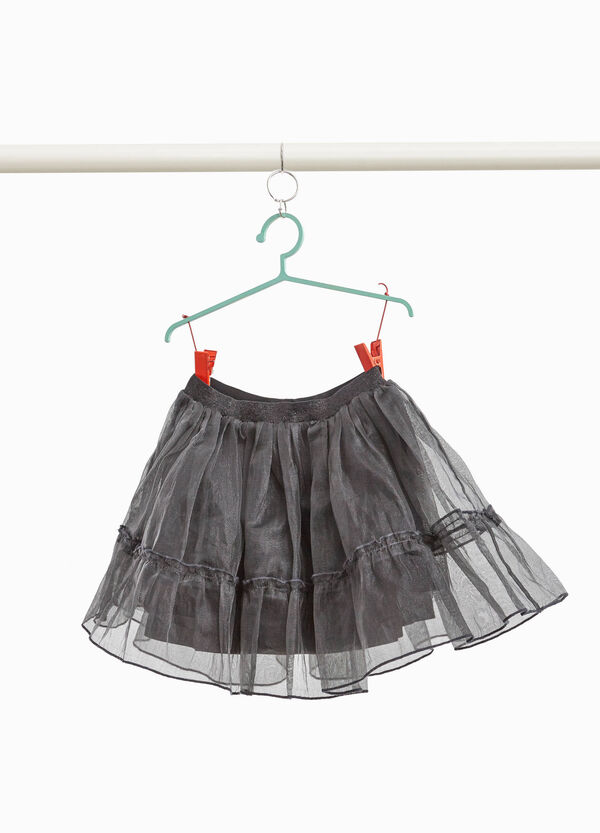 Tulle skirt with lurex