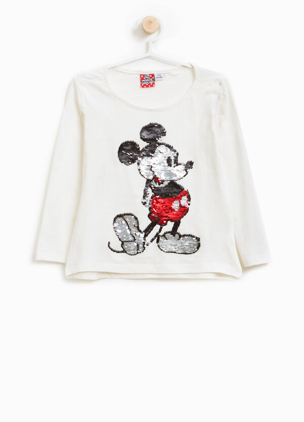 T-shirt cotone stretch Mickey Mouse