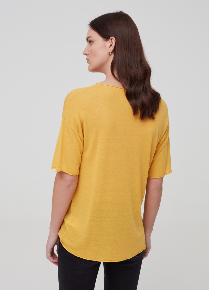Knitted top in linen and viscose image number null