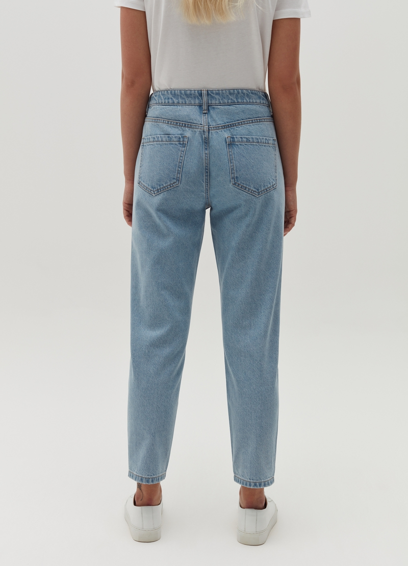 Jeans mom fit con strappi image number null