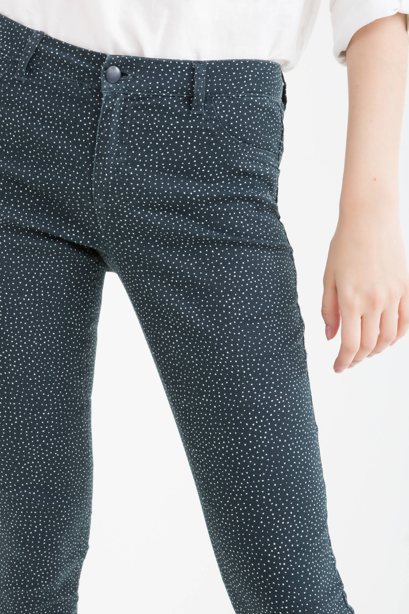 Stretch cotton blend trousers image number null