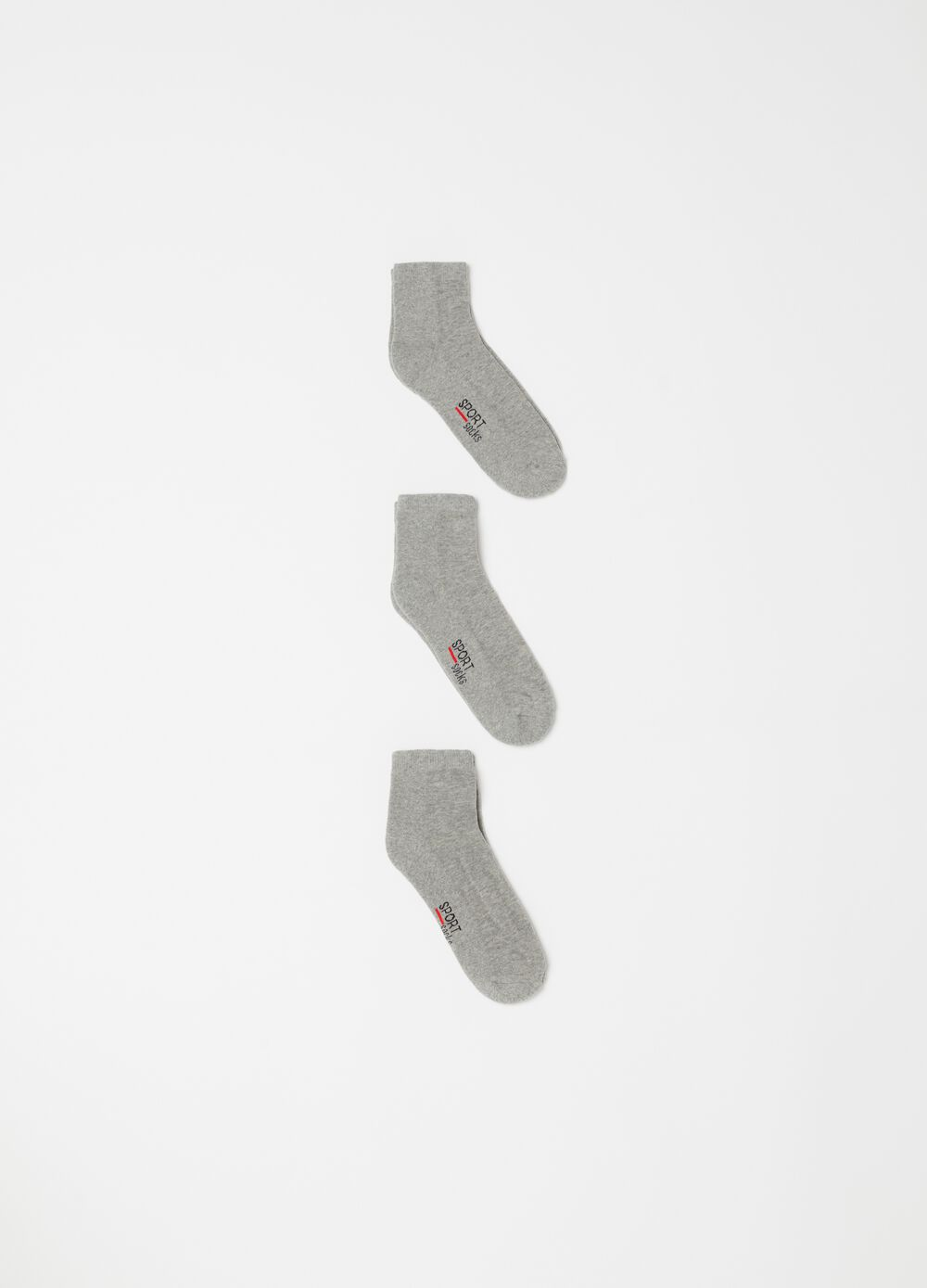 Three-pack pop socks in stretch terry