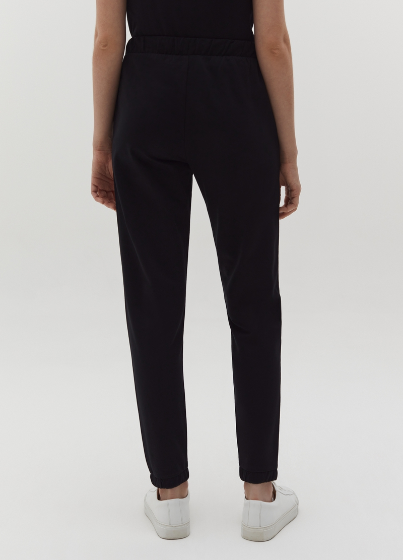 French terry joggers with elasticated ankles image number null