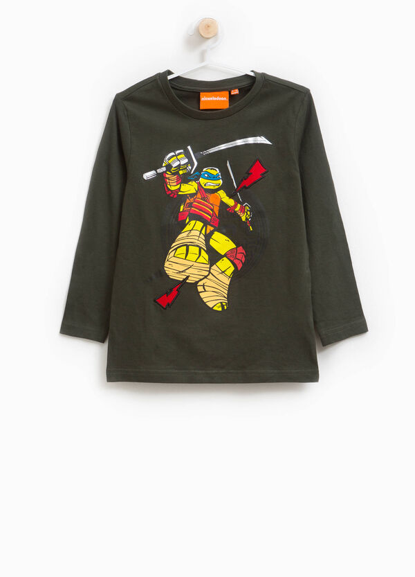 Cotton Ninja Turtles T-shirt with patch
