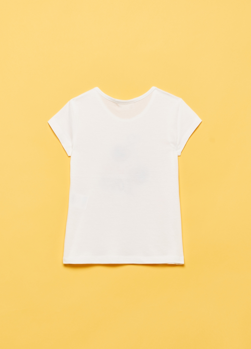T-shirt with cherry and glitter print image number null