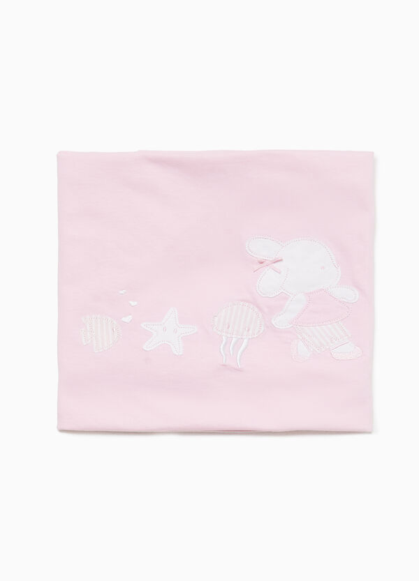 100% cotton blanket with patches