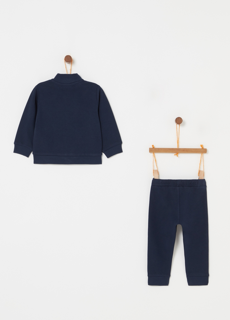 Jogging set with sweatshirt with zip and trousers image number null