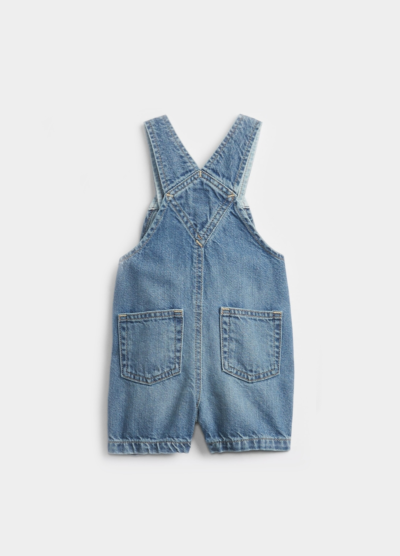GAP short denim dungarees image number null
