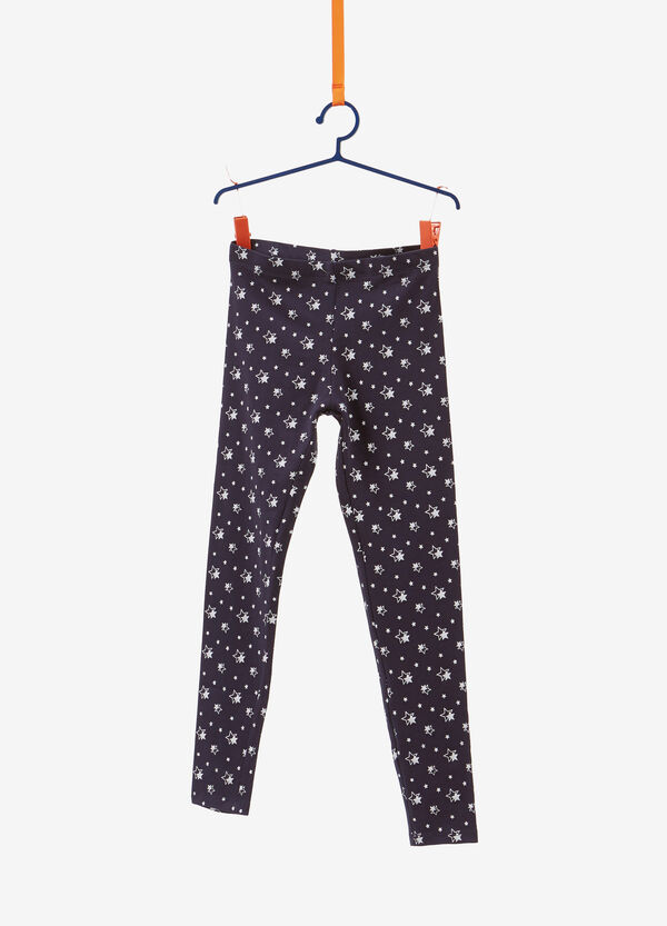 Stretch leggings with all-over star print