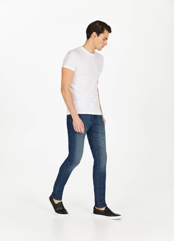 Jeans straight fit used scoloriture