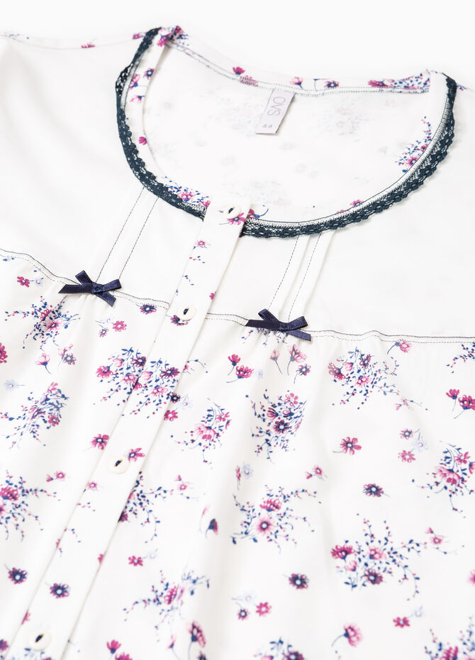 Floral nightshirt with bows