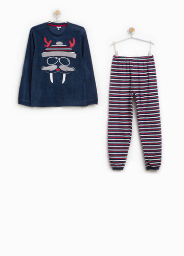 Striped pyjamas with patch