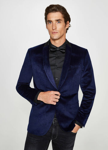 Velvet custom-fit elegant jacket