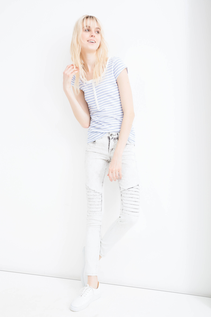 Mis-dyed, stretch skinny-fit jeans image number null