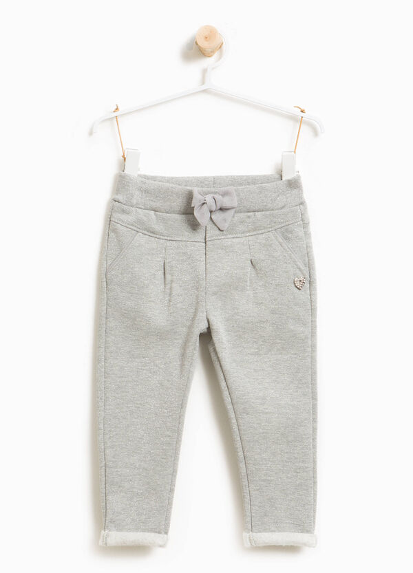 Glitter trousers with drawstring | OVS