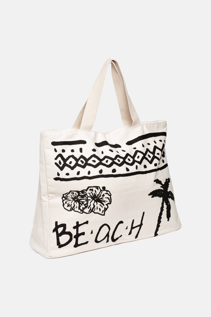 Beach bag with contrasting decorations image number null