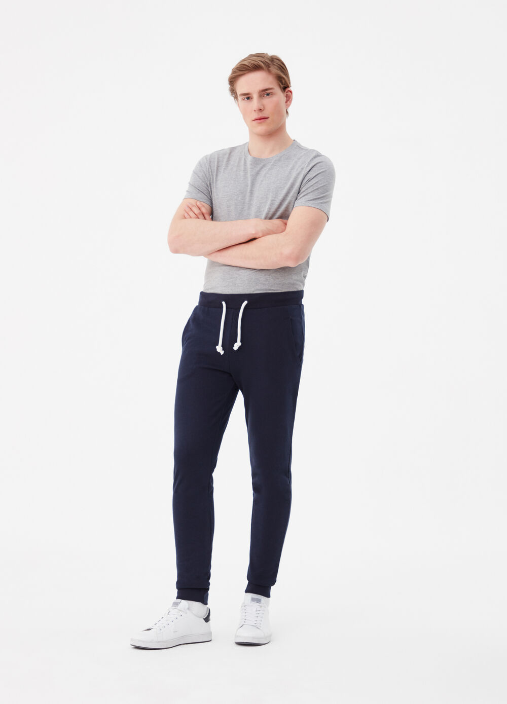 French terry joggers with circular string