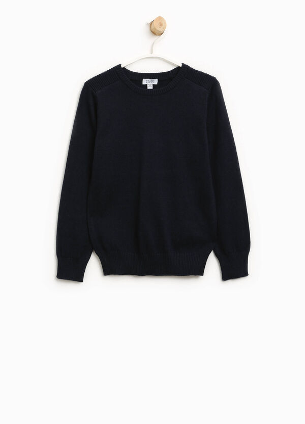 Solid colour cotton and wool pullover | OVS