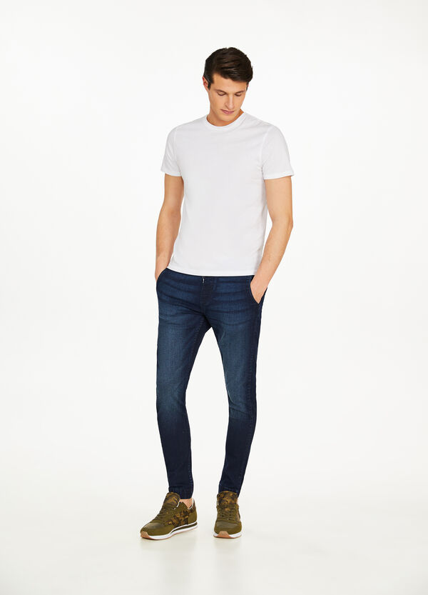 Jeans jogger fit stretch effetto used