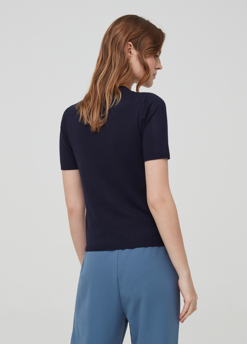 Knitted short-sleeved top image number null