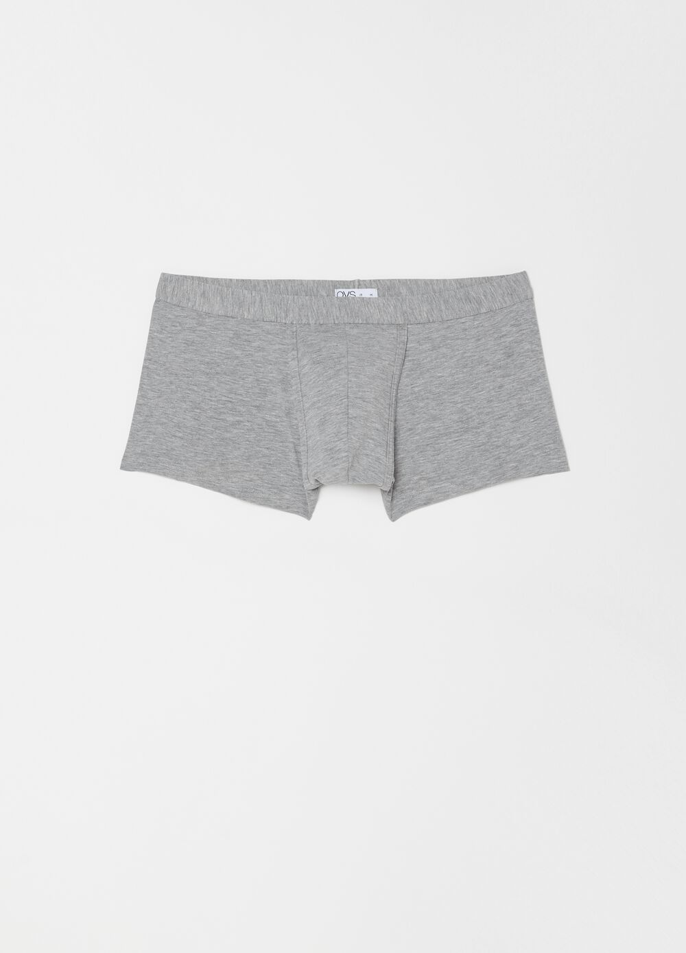 Two-pack cotton blend boxers with elastic waistband