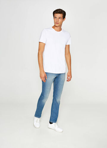 Jeans regular fit effetto used