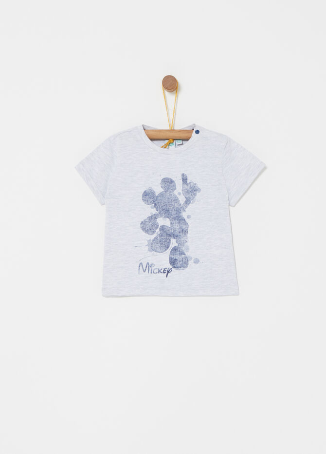 Mickey Mouse print mélange T-shirt