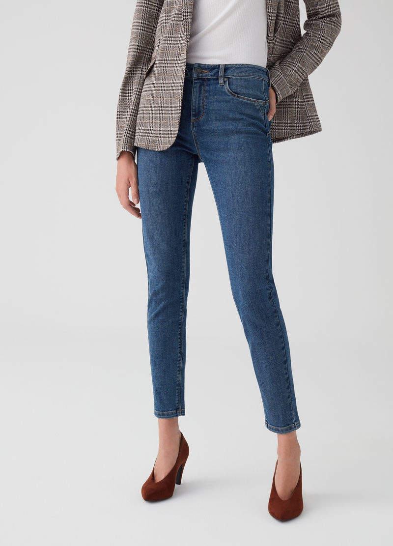 Jeans push-up cinque tasche image number null