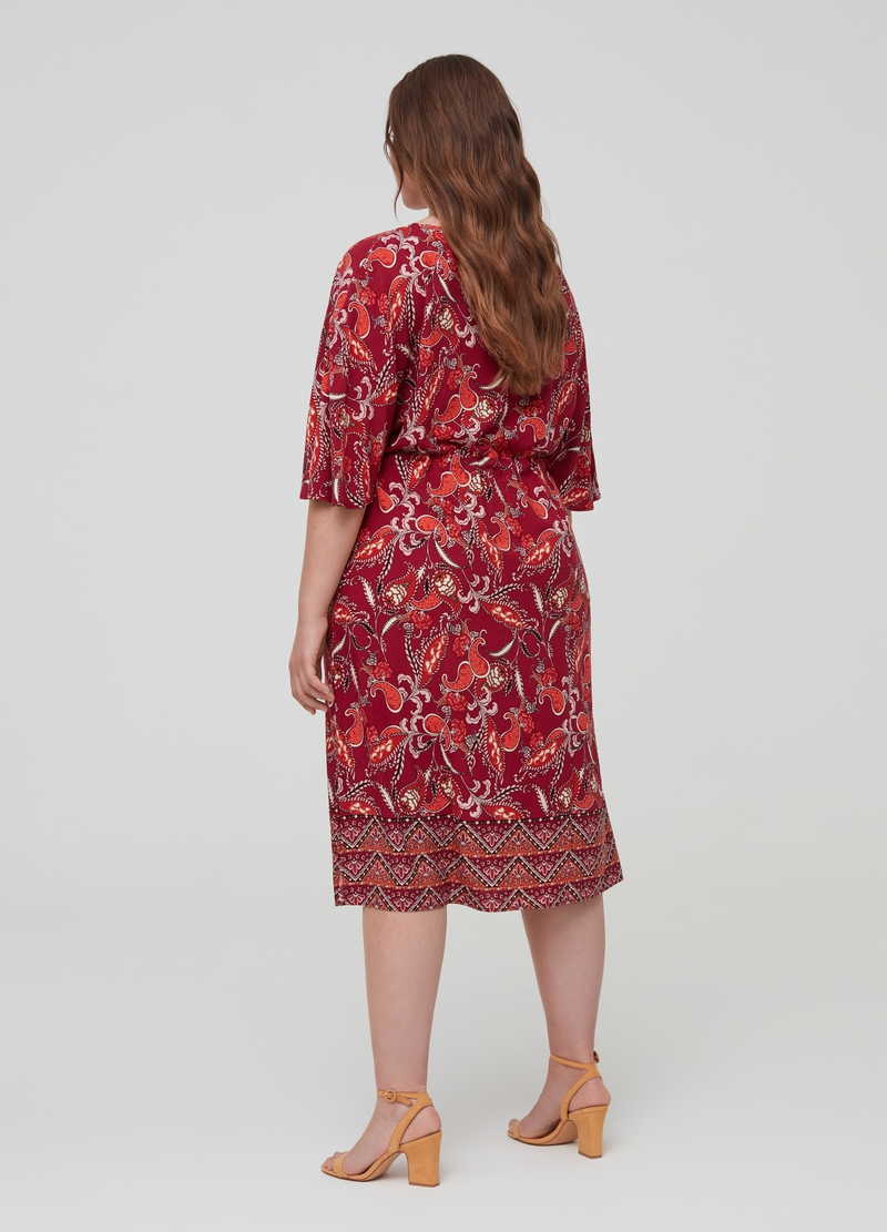 Curvy 100% viscose dress with splits image number null