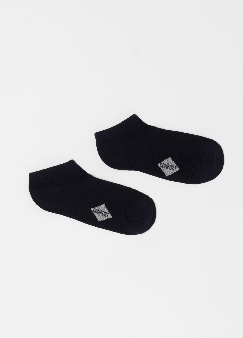 Three-pair pack comfortable ankle socks in jacquard image number null