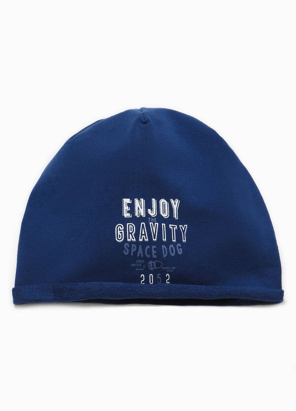 Printed beanie cap in cotton | OVS