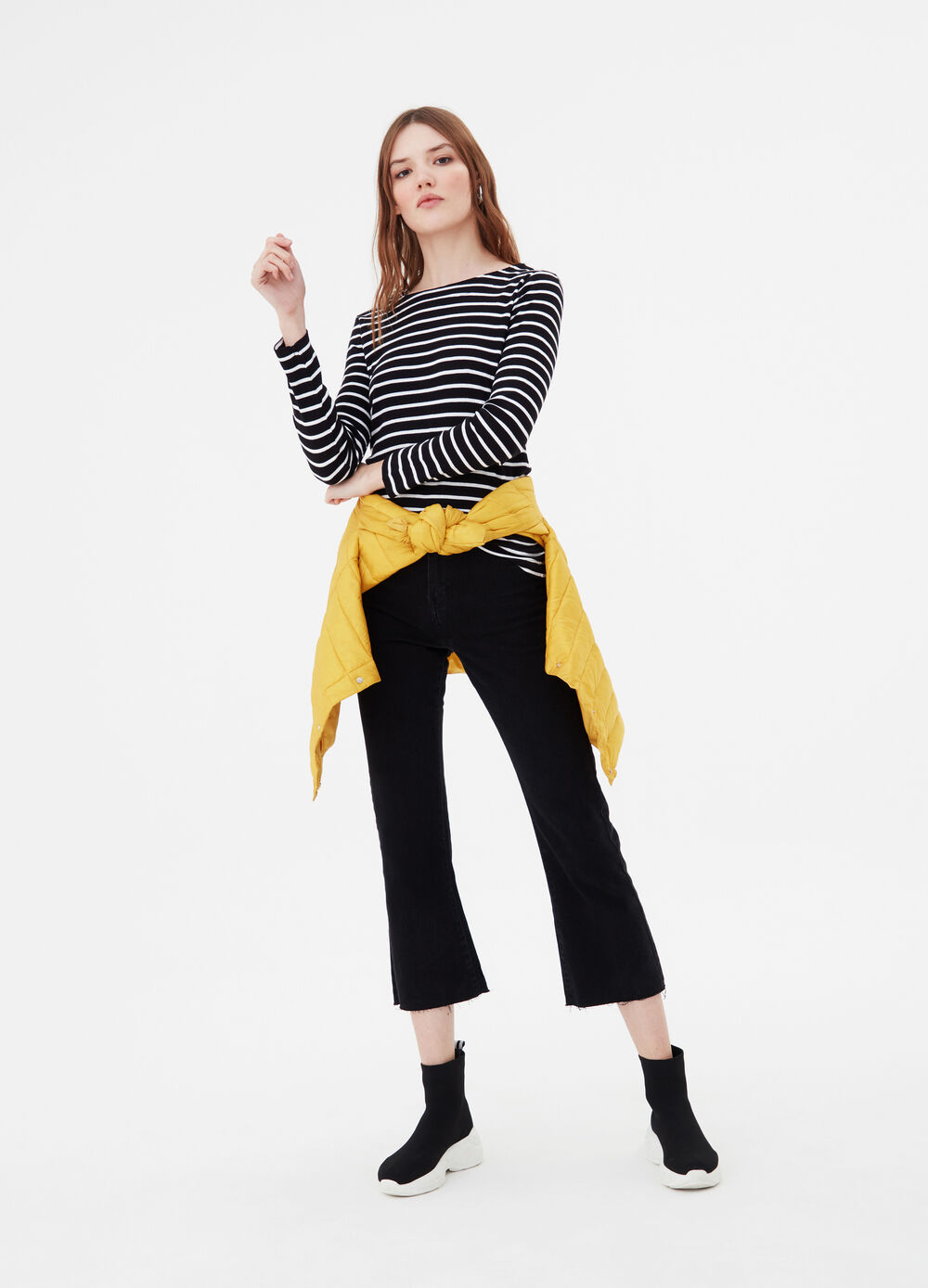 Long-sleeved BCI T-shirt with stripes
