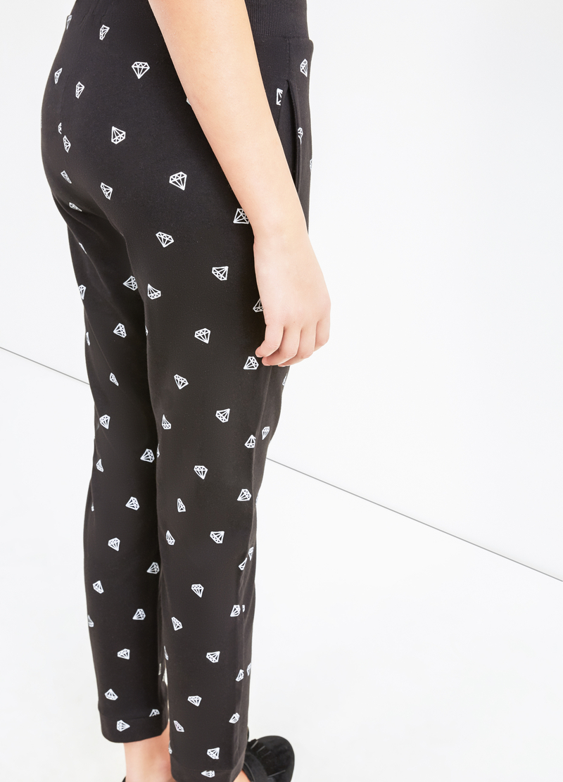 Patterned joggers in cotton blend image number null