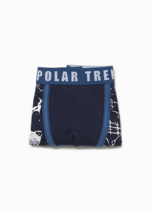 Organic cotton stretch boxers with pattern | OVS