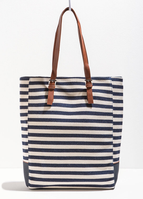 Shopping bag a righe in cotone | OVS
