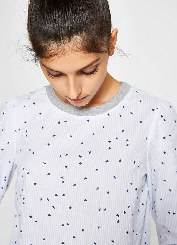 Patterned T-shirt in 100% cotton