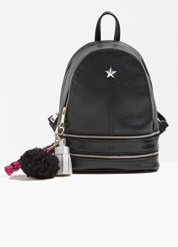 Backpack with star, pompom and tassel | OVS